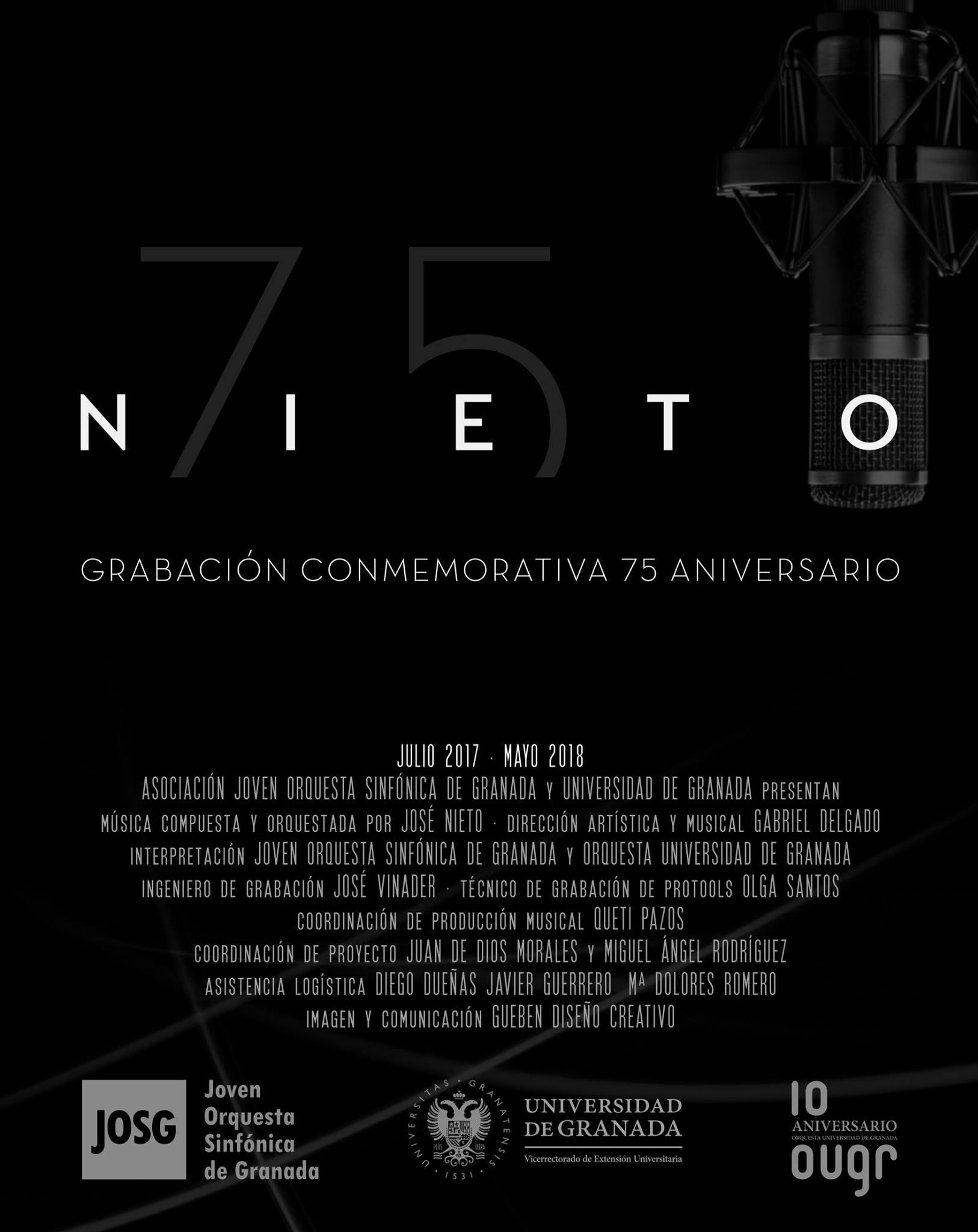 José Nieto grabará un CD conmemorativo
