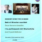 Concierto de Óscar Navarro con la Banda Primitiva de Llíria