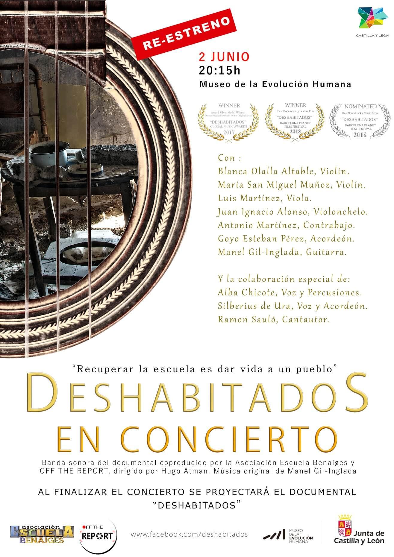 Concierto y re-estreno del documental Deshabitados