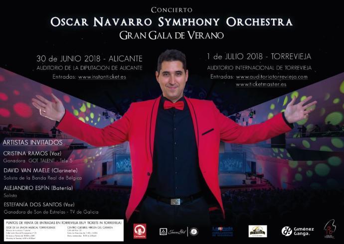 Óscar Navarro Symphony Orchestra en Alicante y Torrevieja