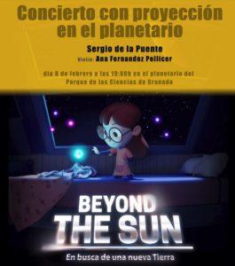 Cartel Concierto Proyección Beyond the Sun