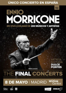 Póster Ennio Morricone The Final Concerts Madrid
