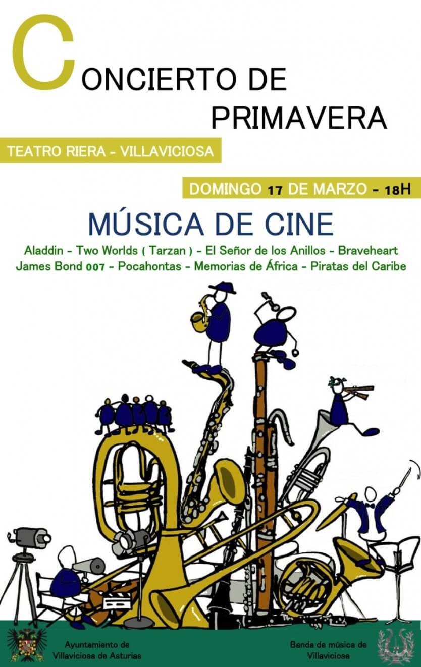 Concierto Musica de Cine por la Banda de Música de Villaviciosa