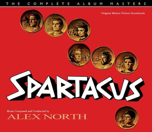 Carátula BSO Spartacus - Alex North