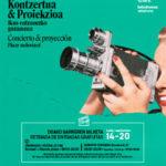 Cartel Concierto & Proyección. Placer audiovisual