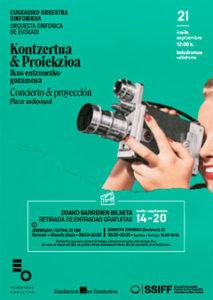 Cartel Concierto & Proyección. Placer audiovisua
