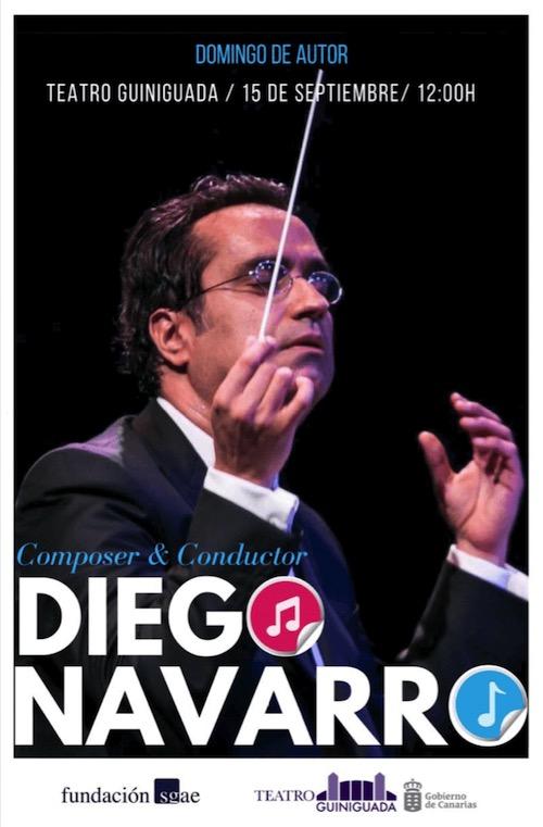 Domingo de Autor con Diego Navarro en el Teatro Guiniguada
