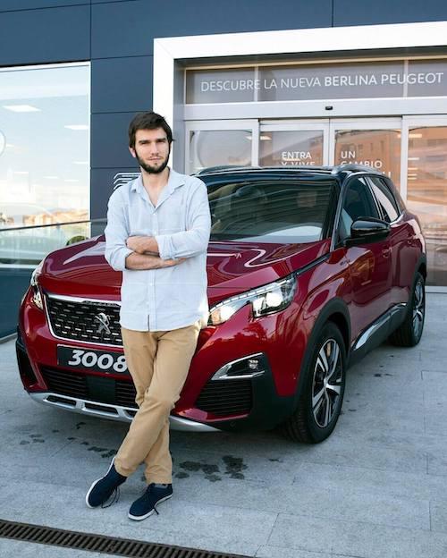Lucas Vidal embajador del nuevo SUV Peugeot 3008