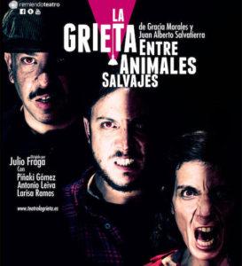Cartel La Grieta entre Animales Salvajes