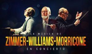 Cartel Los 3 Reyes del Cine: Morricone, Zimmer y Williams