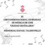 "Cartel XI Certamen Nacional de Bandas de Música de Cine ""Ciudad de Cullera"""
