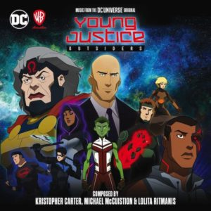Carátula BSO Young Justice: Outsiders - Kristopher Carter, Michael McCuistion y Lolita Ritmanis