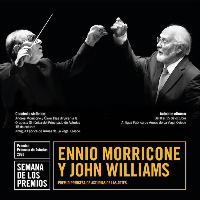 La Fundación Princesa de Asturias rendirá homenaje a Ennio Morricone y John Williams